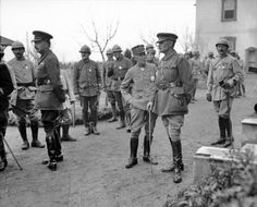 General Maurice Bailloud (left), commander of the French Division, and General Sir Bryan Mahon (right), commander of the British forces at Salonika, October Italian Campaign, Serbian, Ottoman Empire, Bulgarian, World War I, Division, Theatre, Irish, October