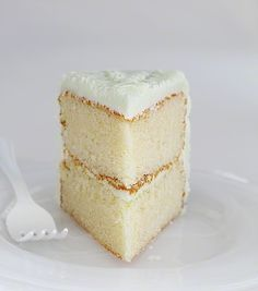 The Perfect White Cake (i am baker). I have been searching for this cake for about two years now. In my experience, making white cake at home is just never as good as the bakery. Until now. I am not kidding when I tell you that this recipe is it.  The flavor is fantastic and the texture is truly perfection.