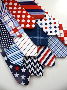 hmm..decisions decisions...Little Guy Necktie Tie  LIBERTY Collection  12 by petitepeanut, $13.95