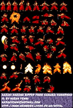 Sprites de Samurai ShowDown [15 Pliegos Para Armar Sprites] [Descargar Gifs]