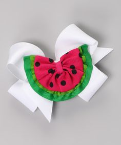 This White Watermelon Clip Set by Picture Perfect Hair Bows is perfect! #zulilyfinds