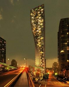 BIG unveils design for the 490-foot-tall Beach and Howe tower in Vancouver, a collaboration with Westbank, Dialog, Cobalt, PFS, Buro Happold, Glotman Simpson and local architect James Cheng.