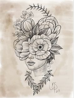 Fantástico Totalmente gratuito flores dibujo lapiz Pensamientos Cabeza de flores Through our focus on older buildings like the Sala Beckett the Casal Balaguer and. Pencil Art Drawings, Art Drawings Sketches, Tattoo Sketches, Tattoo Drawings, Tattoo Graphic, Flower Doodles, Designs To Draw, Art Inspo, Illustration Art