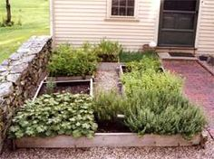 Tavern Herb garden - The farmstead garden beds.  It's good to know you can get healthy organic food from this herb garden that is tucked in behind an old New England tavern that gives a place for the chef the grow fresh goodies for the restaurant.