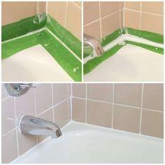 Calfeutrer autour d'une baignoire. 11 Réparations pour la maison à faire soi-même