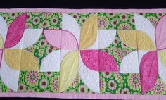 Frangipani quilt blocks and table runner 5x5 6x6 7x7 in the hoop machine embroidery design