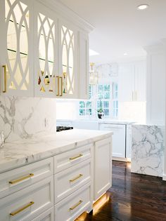 Butler Pantry with Eclipse Mullion Cabinets, Transitional, Kitchen