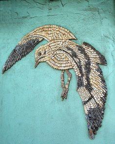 Natural Seashell Mosaic on Flickr – vgenburgos Mosaic wall of shells honduras on Flickr – hjselde mosaic and shell fort bragg, california coast on Flickr – swirly queetsy mosaic a…