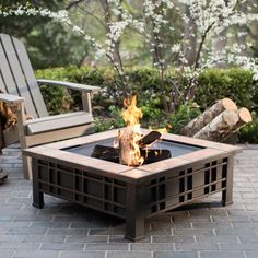 Create an ambient setting for your outdoor space with this wood burning fire pit.
