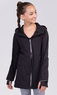 Longer length offers extra coverage for your legs when running from class to practice. | Rain On Game On Jacket