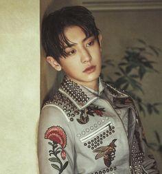 Chanyeol (찬열) of EXO (엑소) from his 'Allure' photoshoot Chanyeol Baekhyun, Kpop Exo, Exo Chanyeol, K Pop, Rapper, Exo Monster, K Wallpaper, Kim Minseok, Exo Korean