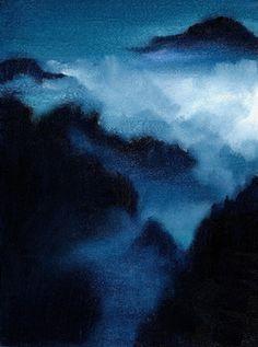 """Saatchi Art Artist Nicole Fossi; Painting, """"Misty Mountains"""" #art"""