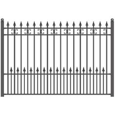 Aleko x Steel Fence, St. Wrought Iron Beds, Wrought Iron Fences, Iron Fence Panels, Floor Plan Sketch, Boho Glam Home, Metal Wall Planters, Mediterranean House Plans, Steel Fence, Fence Design