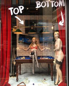 "AGENT PROVOCATEUR, Soho, London, UK, ""You miss 100% of the shots you don't take"", pinned by Ton van der Veer"