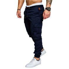 2018 New Fashion Brand Men's Pants Slim Solid Color Elasticity Men Casual Pants Man Trousers Designer Khaki Mens Joggers Pantalon Slim Fit, Slim Fit Joggers, Skinny Joggers, Slim Pants, Casual Pants, Men Casual, Men Pants, Smart Casual, Casual Wear
