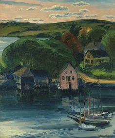 John Sloan (American, 1871-1951),Toward Evening, Gloucester. Oil on canvas, 24 x 201/8 in.