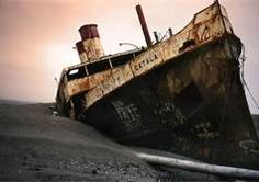 the SS Catala - once beached at Ocean Shores, Washington--we climbed all over it--pictures!