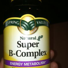 Super B Complex...an amazing little all natural pill that curbs your appetite, gives you an amazing amount of energy and speeds up your metabolism...I highly recommend it! Been taking it 1 time a day for a week now and feel great!