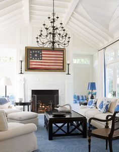 i can't begin to describe how much i love American flags. this room is pretty amazing.