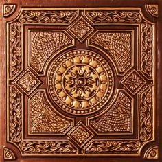 Faux Antique Copper Plastic Ul Rated Ceiling Tile Flat Design Can Be Glue on Clean Smooth Flath Surface, Also Can Glued Over Popcorn Ceiling with Overlaping Edges. Victorian Ceiling Tile, Copper Ceiling Tiles, Copper Backsplash, Kitchen Backsplash, Girls Bedroom, Diy Bedroom, Bathroom Makeovers On A Budget, Kitchen Makeovers, Budget Bathroom
