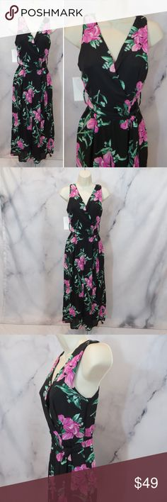 ROMPER JUMPER HAWAII FLORAL WIDE LEG CROP NEW XS 🌺ROMPER JUMPER FLORAL WIDE LEG CROP NEW XS🌺. Just in, New for Spring!  Sheer flowy Exterior material is polyester with dark black background and flowers in shades of pink and green. Interior lining in bodice is polyester and spandex. Soft, lightweight and flowy. Zip up side, belt on waist and button at v-neckline. Measurements: Size Juniors EXTRA SMALL or Women's XS Petite. Chest-15 in. Waist-12 in. Girth-28 in. Please keep in mind that this…
