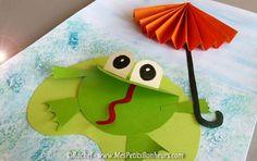 grenouille bricolage decoupage collage jour de pluie:
