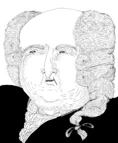 Preliminary pen and ink drawing of John Adams, For P.O.T.U.S A Portrait Series.  To see the finished installation follow the link: http://rachelignotofskydesign.com/P-O-T-U-S