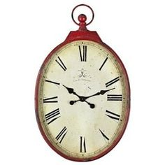 Antiqued Red Wall Clock -- pier 1