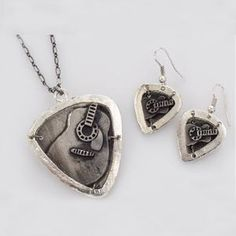 Sales Producers Inc. - Pewter Necklaces and Earrings Gift For Music Lover, Music Lovers, Dog Tags, Pewter, Dog Tag Necklace, Music Instruments, Necklaces, Earrings, Gifts