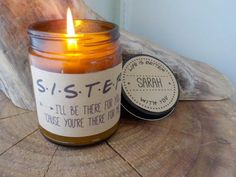 Sister Candle Gift. 9 oz Hand Poured Soy Candle. Completely Handmade in Astoria, Oregon. Comes ready to gift in a lovely gift box. Perfect Holiday Gift or Anytime Gift! After ordering, please email us