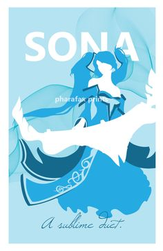 Sona: League of Legends Print. $14.00, via Etsy.  - Join the hottest social network for gamers now! http://Player.me