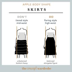 In this section, we explore how to dress the apple body shape to achieve a balanced silhouette. Make sure to check all body shapes that apply to you. Apple Body Shape Outfits, Apple Shape Fashion, Dresses For Apple Shape, Apple Body Type, Apple Body Shapes, Pear Body, Body Shape Guide, Build A Wardrobe, Wardrobe Ideas
