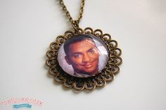 Carlton Banks Fresh Prince Aniqued Brass Filigree Necklace from Mandaroux