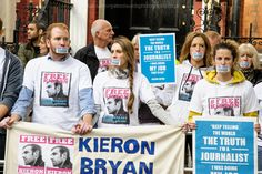 Protesters have gathered outside the Russian embassy in London to demand the release of video-journalist Kieron Bryan, who was arrested on a Greenpeace ship by Russian security forces in September. Tell The World, The Outsiders, September, Ship, London, Art, Art Background, Kunst, Ships