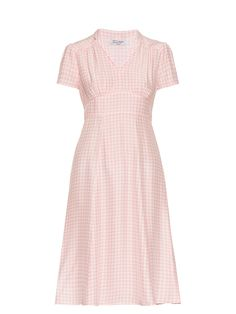 Click here to buy HVN Morgan gingham short-sleeved dress at MATCHESFASHION.COM