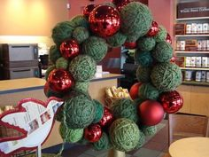 2008 Starbucks Christmas wreath. I remember seeing this back then ...