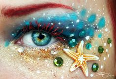 Ariel makeup.  I wish my eyes were bleu!