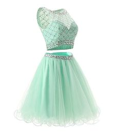 Two Piece Mint Tulle Homecoming Dresses Prom Dresses Homecoming Dress, Prom Dresses Two Piece, Prom Dress Prom Dresses 2019 Cheap Graduation Dresses, 2 Piece Homecoming Dresses, Cute Prom Dresses, Tulle Prom Dress, Grad Dresses, Trendy Dresses, Dress Outfits, Party Dress, Long Dresses