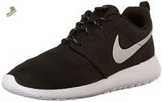 Nike Women's Roshe One Black/Metallic Platinum/White Running Shoe 6.5 Women US - Nike sneakers for women (*Amazon Partner-Link)