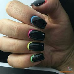 Classy Nails, Stylish Nails, Trendy Nails, Cute Nails, Classy Nail Designs, Black Nail Designs, Nail Polish Designs, Dark Color Nails, Dark Nails