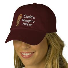 Cupid's Naughty Helper Embroidered Hat