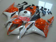 Orange & Pearl White 2009-2012 Honda CBR600RR Kings Motorcycle Fairings Honda, Bike Life, Pearl White, Kit, Pearls, Orange, Motorcycle, Products, Beads