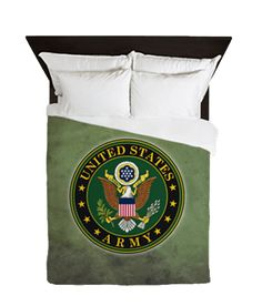 Army Seal Duvet Cover for the bedroom, available in King, Queen, Full and Twin sizes.     Proceeds of all sales go directly to the United States Army to support soldiers serving in the military.