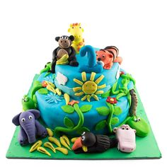Animal Lovers Cake  Gift your little ones their very own Jungle and light up their special day.  Crocodile, blue elephants, snakes, Giraffe and wild cats created from quality fondant galore the landscape of this succulent cream cake available in a choice of flavors. A truly beautiful cake to adorn every party celebrating the little ones who bring immense joy to our lives.  Order Online at www.cakebee.in  #Cakebee #CakebeeIn #Cake #Online #Delivery