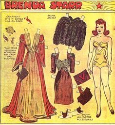 """Brenda Starr*1500 free paper dolls at Arielle Gabriel""""s The International Paper Doll Society and free Chinese Japanese paper dolls at The China Adventures of Arielle Gabriel *"""