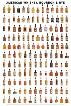 American Whiskey, Bourbon & Rye Wall Poster by Clay Risen 9781935622642 Whiskey Brands, Cigars And Whiskey, Scotch Whiskey, Zigarren Lounges, Bourbon Cocktails, Bourbon Whiskey, Alcohol Recipes, Wine And Spirits, Poster Wall