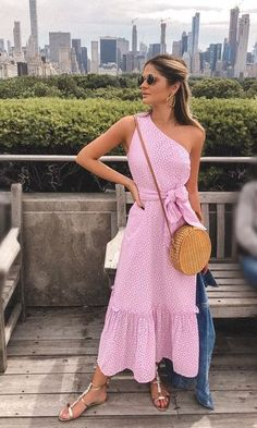 Hollow Out One Shoulder Belted Pep Hem Dress Trendy Outfits, Summer Outfits, Cute Outfits, Summer Dresses, Day Dresses, Casual Dresses, Fashion Dresses, Fashion Moda, Classy Women
