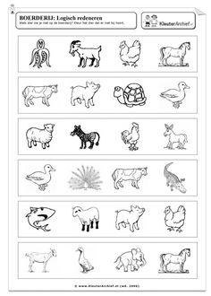 Welk dier zie je niet op de boerderij? Kleur dat dier [kleuterarchief.nl]