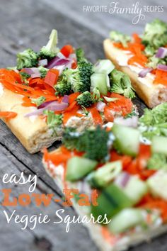 Low Fat Veggie Squares