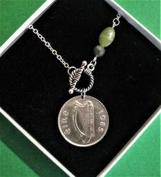 Etsy Vintage, Vintage Items, Coin Shop, Irish Pride, Christmas Labels, 35th Birthday, Connemara, Claddagh, Coin Necklace